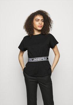 KARL LAGERFELD - LOGO TAPE - Nachtwäsche Shirt - black