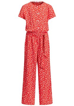 WE Fashion - MET STIPPENDESSIN - Combinaison - bright red