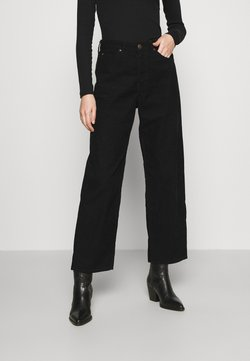 Lee - WIDE LEG - Stoffhose - black