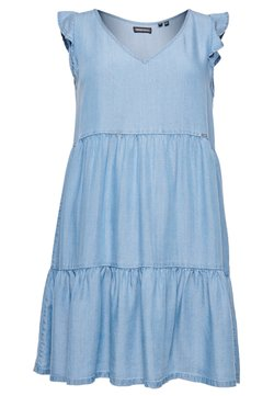Superdry - Day dress - mid wash blue