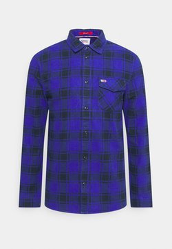 Tommy Jeans - PLAID SHIRT - Koszula - court blue
