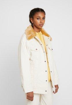 Levi's® - OVSZD  TRUCKER - Denim jacket - ecru wide wale