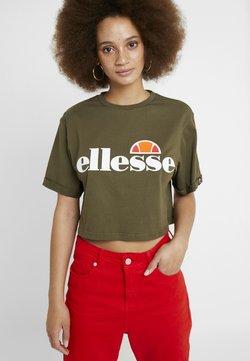 Ellesse - ALBERTA - T-shirt z nadrukiem - khaki