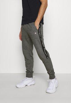 Champion - TAPE PANTS - Jogginghose - black/dark grey melange