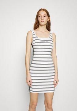 Calvin Klein Jeans - STRIPE MILANO DRESS - Jerseykleid - creamy white/black