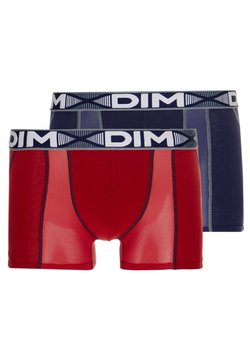 DIM - 3D FLEX AIRBOXER 2 PACK - Shorty - red/denim blue