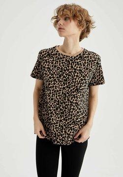 DeFacto - T-Shirt print - beige