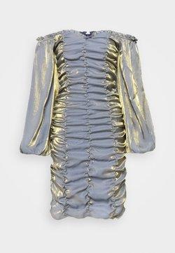 Glamorous Tall - LADIES DRESS - Freizeitkleid - blue/gold metallic