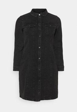 Vero Moda Curve - VMAVIIS STITCH DRESS  - Sukienka jeansowa - black
