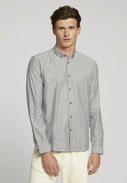 TOM TAILOR DENIM - Overhemd - navy two tone twill stripe
