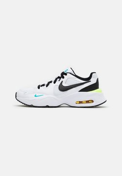 Nike Sportswear - AIR MAX FUSION  - Sneaker low - white/black/oracle aqua/pollen rise