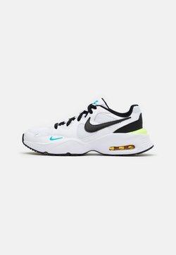Nike Sportswear - AIR MAX FUSION  - Sneakersy niskie - white/black/oracle aqua/pollen rise