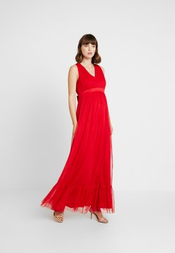 Anaya with love Maternity - V FRONT DRESS WITH BOW AND GATHERED - Festklänning - poppy red