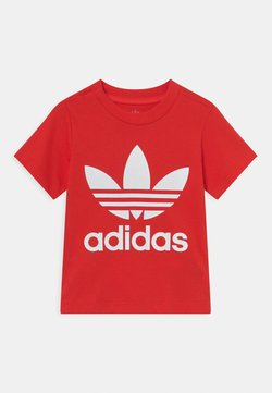 adidas Originals - TREFOIL TEE UNISEX - T-shirt imprimé - red/white