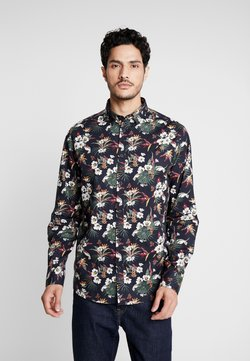 Solid - SHIRT TYLER FLOWER - Camisa - black