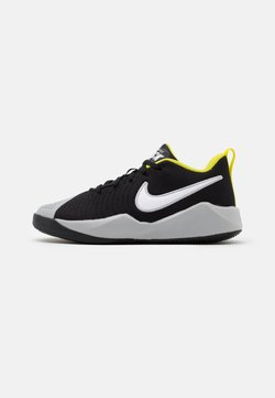 Nike Performance - TEAM HUSTLE QUICK 2 UNISEX - Zapatillas de baloncesto - black/white/light smoke grey/high voltage