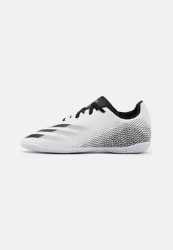 adidas Performance - X GHOSTED.4 FOOTBALL SHOES INDOOR UNISEX - Fußballschuh Halle - footwear white/core black/silver metallic