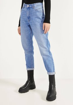 Bershka - MOM - Straight leg jeans - blue-black denim