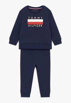 Tommy Hilfiger - BABY TRACKSUIT SET - Trainingspak - blue