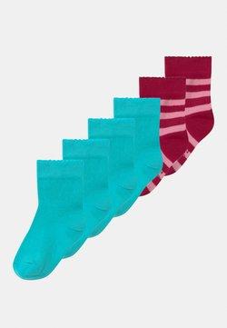 Ewers - PLAIN RINGLET 6 PACK - Sokken - pink/turquoise
