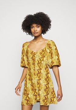 Faithfull the brand - MARTINE MINI DRESS - Freizeitkleid - dark yellow