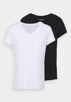 Even&Odd active - 2 PACK - T-shirt basic - black/white