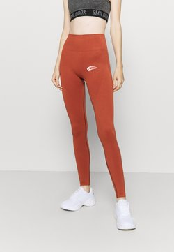 Smilodox - SEAMLESS DAMEN BLOOM - Tights - orange