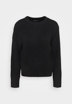 Even&Odd - BASIC- SHORT JUMPER - Strikkegenser - black