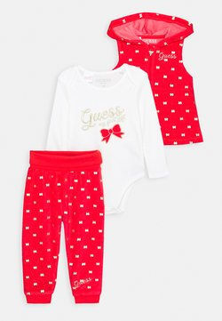 Guess - VEST AND BODY AND PANTS BABY SET - Väst - red