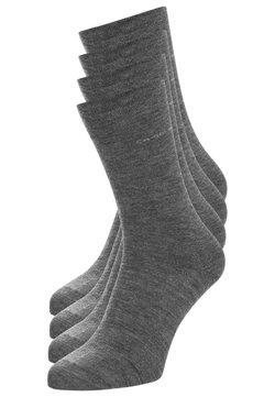 camano - SOFT WOOL 4 PACK - Socken - light grey/light grey