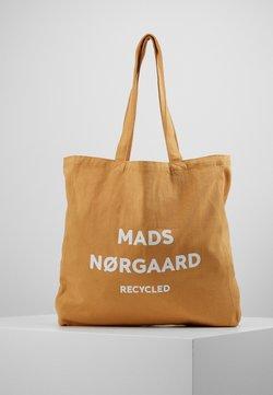 Mads Nørgaard - BOUTIQUE ATHENE - Shopping bag - tan/white