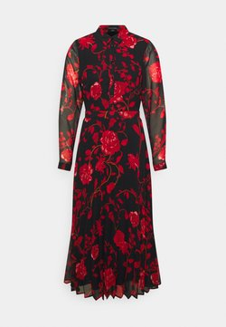 comma - KLEID - Vestito estivo - black/red