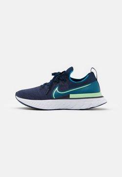 Nike Performance - REACT INFINITY RUN FK - Zapatillas de running neutras - college navy/cucumber calm/blue orbit/white