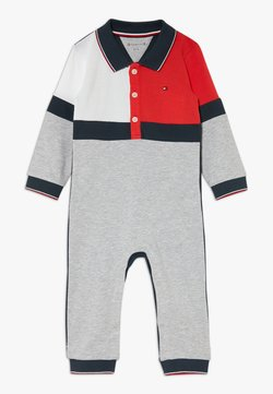Tommy Hilfiger - BABY COLOURBLOCK COVERALL - Combinaison - grey