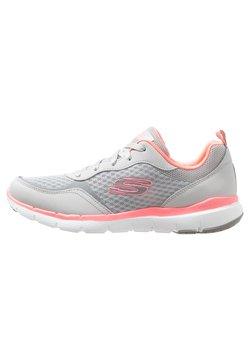 Skechers Sport - FLEX APPEAL 3.0 - Sneakers laag - light gray/hot pink
