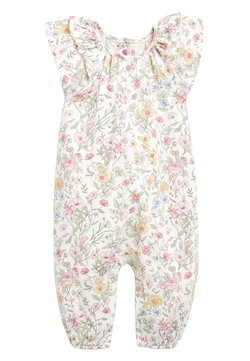 Next - ECRU/PINK FLORAL PRINT ROMPER (0MTHS-2YRS) - Overall / Jumpsuit - off-white