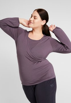 YOGA CURVES - SIDE WRAP  - Camiseta de manga larga - aubergine