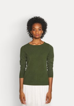 Marc O'Polo - LONGSLEEVE BASIC WITH ROUNDNECK - Strickpullover - lush pine