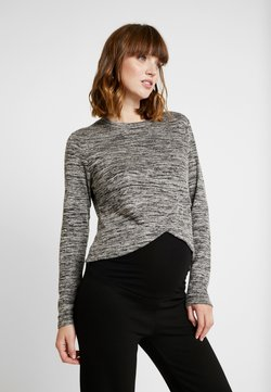 Cotton On - MATERNITY CROSS OVER FRONT LONG SLEEVE - Jersey de punto - grey twist