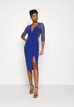 WAL G. - MAISIE SLEEVE MIDI DRESS - Cocktailkleid/festliches Kleid - electric blue