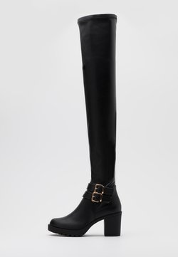 ONLY SHOES - ONLBARBARA BUCKLED - Overkneeskor - black