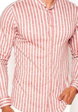 DESOTO - Hemd - red  linen stripe