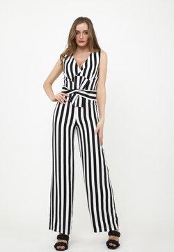 Madam-T - REBECCA - Jumpsuit - schwarz/weiß