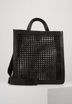 Coccinelle - BORSA PAGLIA BOTTALATINO - Shopping Bag - noir