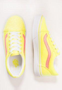 Vans - OLD SKOOL - Sneakers basse - neon glitter yellow/true white