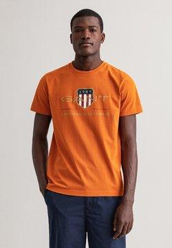 GANT - ARCHIVE SHIELD - Printtipaita - savannah orange