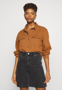 Missguided - BOYFRIEND FIT - Camicia - camel