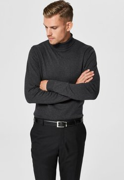 Selected Homme - SLHTOWER ROLL   - Strickpullover - anthracite
