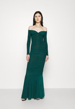 Missguided - RUCHED FISHTAIL - Occasion wear - dark green