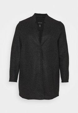 Vero Moda Curve - VMBRUSHEDKATRINE JACKET - Manteau court - dark grey melange